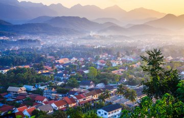 Viewpoint and landscape in luang prabang